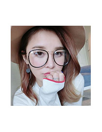 Fashion Gold Color Irregular Frame Decorated Color Matching Thin Leg Simple Glasses