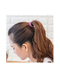Fashion Gray Round Shape Decorated Pure Color Simple Hair Band