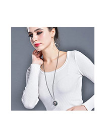 Fashion Multi-color Star&moon Pendant Decorated Simple Necklace