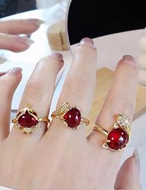 Fashion Red 1 Fox Open Ring