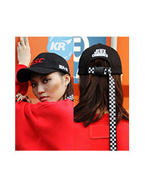 Fashion Black Letter Ugly&strap Decorated Simple Baseball Cap