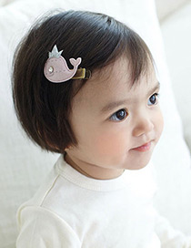Fashion Light Gray Crown&small Whale Decorated Simple Hairpin