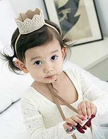 Fashion Beige Crown&diamond Decorated Pure Color Hairpin