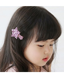 Fashion Multi-color Heart Shape Decorated Color Matching Hair Clip