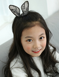 Lovely Black Rabbit Ears Decorated Pure Color Hairpin