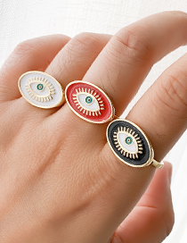 Fashion Red Copper Love Eye Ring