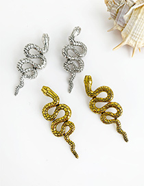 Fashion Gold Alloy Long Snake Earring
