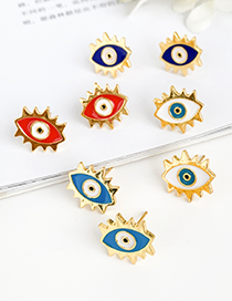 Fashion White Copper Eye Stud