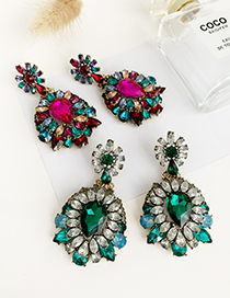 Fashion Color Alloy Studded Geometric Earrings