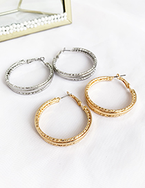Fashion Silver Alloy Circle Studs