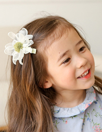 Lovely Gray Burning Flowers Decorated Lace Hairpin
