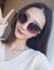 Fashion Green Arrows Decorated Irregular Shape Sunglasses