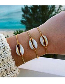Fashion Gold Color Shell Shape Decorated Bracelet
