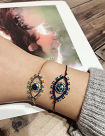 Fashion Black Eye Shape Decorated Bracelet