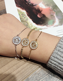 Fashion Gold Color M Letter Shape Decorated Bracelet