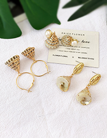 Fashion Gold Alloy Conch Shell Earrings