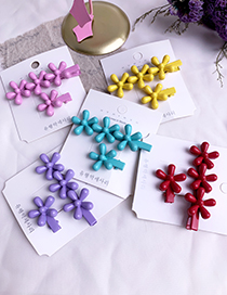 Fashion Red Alloy Resin Flower Hair Clip