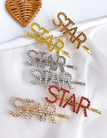 Fashion Pearl Alloy Diamond Letter Star Word Hairpin
