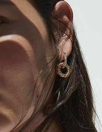 Fashion Gold Alloy Circle Earrings