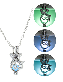 Fashion Blue Green Mickey Mouse Night Light Necklace