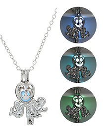Fashion Blue Green Octopus Night Bead Necklace