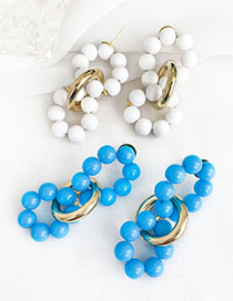 Fashion Colour Alloy Beads And Bead Earrings