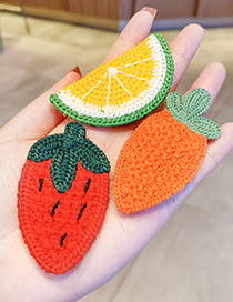 Fashion Strawberry Knitted Hit Color Fruit Childrens Bangs Stickers