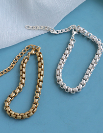 Fashion Golden Alloy Small Thick Chain Bracelet