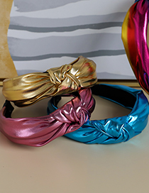 Fashion Color Knotted Headband In Shiny Fabric