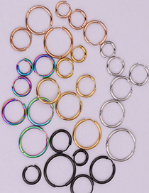 Fashion Steel Color 6mm Round Stainless Steel Smooth Earrings