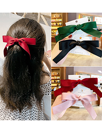 Fashion Blue【hairpin】 Bowknot Fabric Alloy Childrens Hairpin Hair Rope