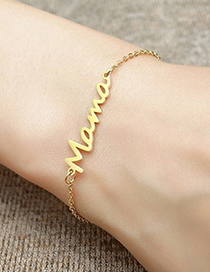 Fashion Necklace-gold Stainless Steel Letter Hollow Necklace Ring Bracelet