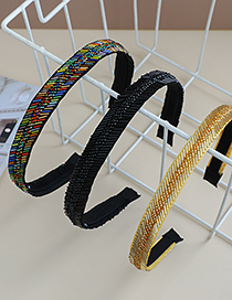 Fashion Color Fabric Resin Beaded Headband