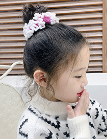 Fashion Royal Blue Woolen Knitted Rabbit Ears Hit Color Childrens Large Intestine Loop Hair Rope
