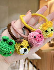 Fashion Cute Puppy Woolen Animal Knitted Childrens Hair Rope