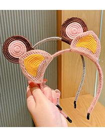 Fashion Rabbit Ears Three-dimensional Wool Knitted Bunny Ears Childrens Headband