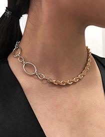 Fashion Gold Color Alloy Twist Necklace