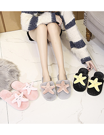 Fashion Baotou Starfish Powder Starfish Baotou Plush Baotou Cotton Slippers
