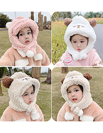 Fashion Brown Sheep Hat Circumference Is About 48cm-54cm Lamb Wool Sheep Children Hat And Scarf One