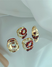 Fashion Donuts Donut Cake Alloy Drip Ring