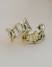 Fashion Ancient Gold Alloy Geometric Earrings
