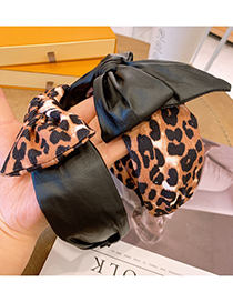 Fashion Leopard Bow Leopard Print Bow Wide Brim Headband