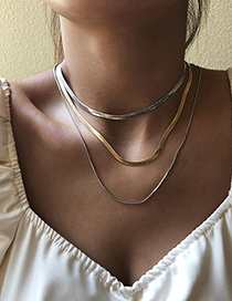 Fashion Gold Long Alloy Necklace