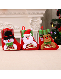 Fashion Letter Card Socks【bear】 Santa Letter Christmas Stocking