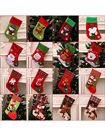 Fashion Snowflake Socks (bear Style) Christmas Old Man Snowman Bear Christmas Stocking