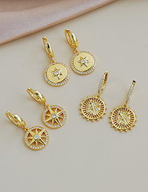 Fashion Gold Color Copper Inlaid Zircon Boat Top Earrings