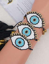 Fashion Multi-layered Gold Color Beads For Eyes Mizhu Eyes Handmade Beaded Bracelet