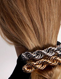Fashion Silver Color Alloy Hairpin Geometry Chain