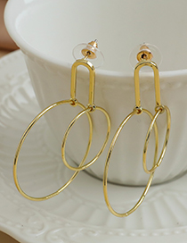Fashion Gold Color Alloy Geometric Round Earrings