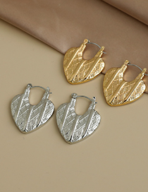 Fashion Gold Color Alloy Heart Lock Earrings